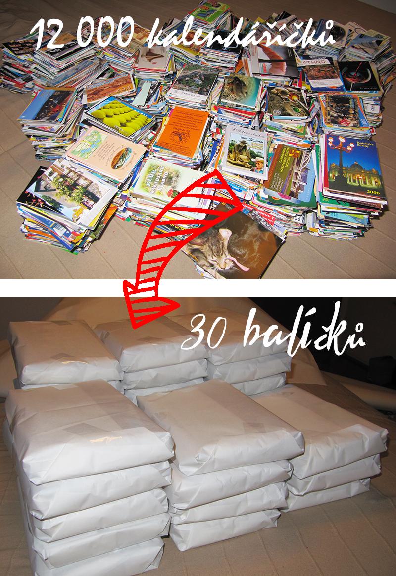 Balíčky různé roky